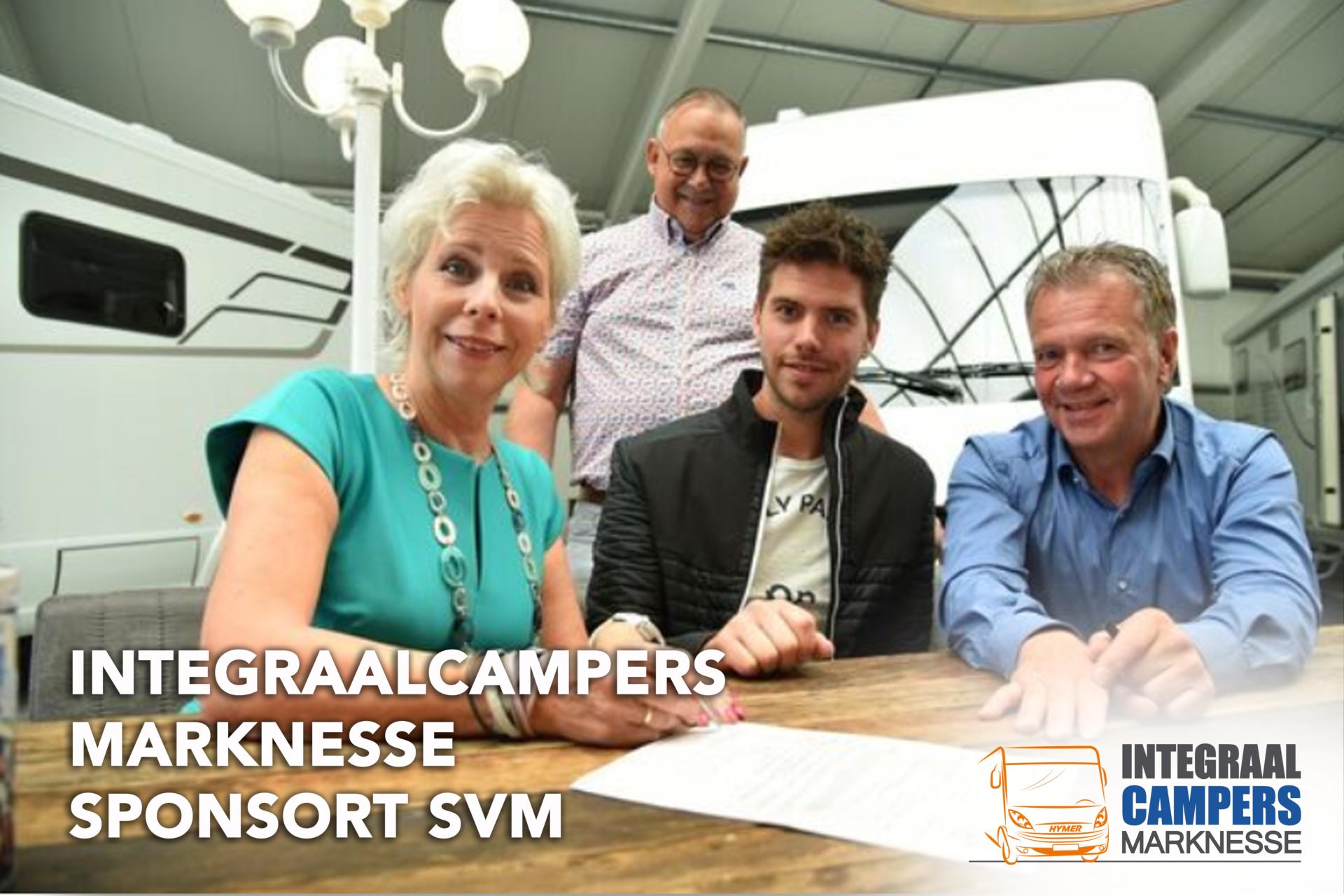 Integraalcampers Marknesse sponsor SVM